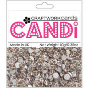 Craftwork Cards Candi Dot Embellishments .35 oz-Safari - Giraffe Wholesale Bulk