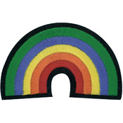 Tees & Novelties Patches For Everyone Iron-On Appliques-Rainbow 1/P Wholesale Bulk