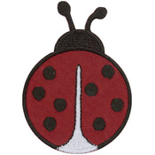 Tees & Novelties Patches For Everyone Iron-On Appliques-Ladybug 1/P Wholesale Bulk
