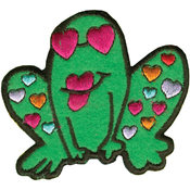Tees & Novelties Patches For Everyone Iron-On Appliques-Frog 1/Pkg Wholesale Bulk