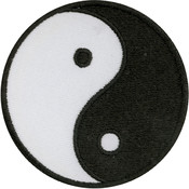 Tees & Novelties Patches For Everyone Iron-On Appliques-Yin Yang 1/ Wholesale Bulk