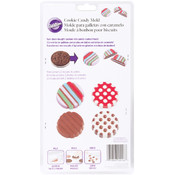 Cookie Candy Mold-Dot Stripe 6 Cavity
