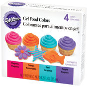 Gel Food Coloring Set 4/Pkg-Neon
