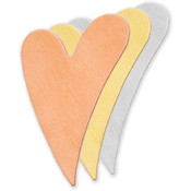"Stamping Blank Swirly Heart 1-1/4"" 2/Pkg-Copper"