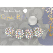 Jesse James Crystal Ball Bead Cluster 16mm 4/Pkg-Style 21 Wholesale Bulk