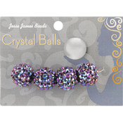Jesse James Crystal Ball Bead Cluster 16mm 4/Pkg-Style 22 Wholesale Bulk