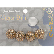 Jesse James Crystal Ball Bead Cluster 16mm 4/Pkg-Style 23 Wholesale Bulk