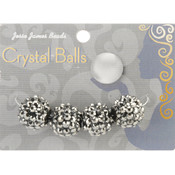 Jesse James Crystal Ball Bead Cluster 16mm 4/Pkg-Style 24 Wholesale Bulk