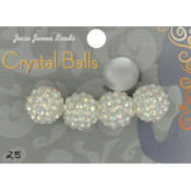 Jesse James Crystal Ball Bead Cluster 16mm 4/Pkg-Style 25 Wholesale Bulk