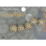 Jesse James Crystal Ball Bead Cluster 14mm 5/Pkg-Style 28 Wholesale Bulk
