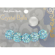 Jesse James Crystal Ball Bead Cluster 14mm 5/Pkg-Style 31 Wholesale Bulk