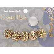 Jesse James Crystal Ball Bead Cluster 14mm 5/Pkg-Style 32 Wholesale Bulk