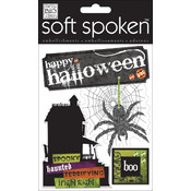 Soft Spoken Themed Embellishments-Halloween Spider