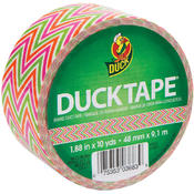 Shurtech Patterned Duck Tape 1.88' Wide 10 Yd Roll-Zig Zag Wholesale Bulk