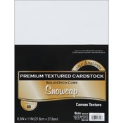 Darice Value Pack Cardstock 8.5'X11'-White - Textured Wholesale Bulk