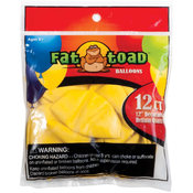 "Fat Toad Latex Balloons 12"" 12/Pkg-Yellow"