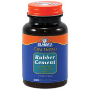 Elmers Craft Bond Rubber Cement-4 Ounces