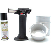 Wall Lenk Creme Brulee Torch, Ramekins & Fuel Combo Pack Wholesale Bulk