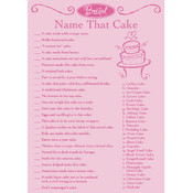 Bridal Game Sheets 50/Pkg-Name That Cake