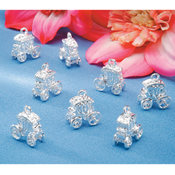 Charms 8/Pkg-Carriage/Silver