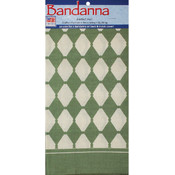 "Decor Bandannas 22""X22""-Diamond Sage"