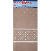 "Decor Bandannas 22""X22""-Dots Khaki"