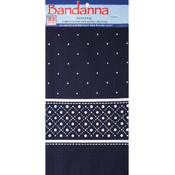 "Decor Bandannas 22""X22""-Dots Navy"