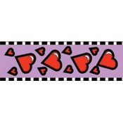 "Cellotape 1-7/8""X25 Yards-Red Hearts On Lavender"