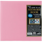 "Pastel Leatherette Postbound Album 12""X12""-Light P"