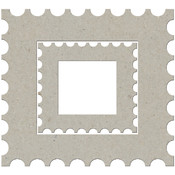Die-Cut Grey Chip Embellishments-Holiday Stamp