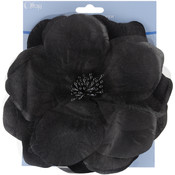Sheer Flower 6&quot;-Black