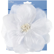 Sheer Flower 6&quot;-White