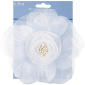 Sheer Flower 5&quot;-White