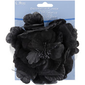 Sheer Flower 5&quot;-Black