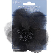 Sheer Flower 4&quot;-Black