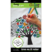 Color My Own Iron-On Art-Tree