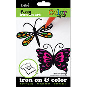Color My Own Iron-On Art-Butterfly