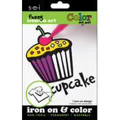 Color My Own Iron-On Art-Cupcake