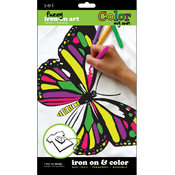 Color My Own Iron-On Art-Butterfly/Dragonfly