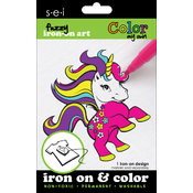Color My Own Iron-On Art-Unicorn