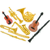 Plastic Miniatures In Toobs-Musical Instruments