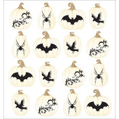 Jolee's Halloween Stickers-White Pumpkin Repeats