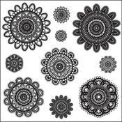 Clear Photopolymer Stamps-Doilies 10 Images