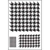 Clear Photopolymer Stamps-Houndstooth Singleton