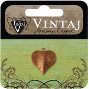 Vintaj Metal Accent-Classic Nouveau Leaf 17x16mm