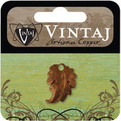 Vintaj Metal Accent 1/Pkg-Prairie Leaf 18x3mm