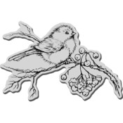Stampendous Christmas Cling Rubber Stamp-Snow Bird