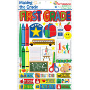 Making The Grade Dimensional Stickers-First Grade
