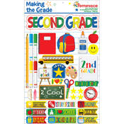 Making The Grade Dimensional Stickers-Second Grade