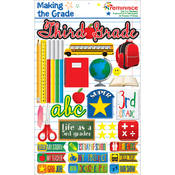 Making The Grade Dimensional Stickers-Third Grade